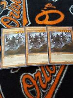 Yugioh Trifortressops 1st edition silver rare LTGY x3