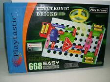 PLAYTASTIC ELEKTRONIC BRICKS - Elektro Elektronik Experimente Baukasten neuwerti