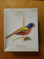 2012 HALLMARK ORNAMENT PAINTED BUNTING THE BEAUTY OF BIRDS 8th IN SERIES NIB
