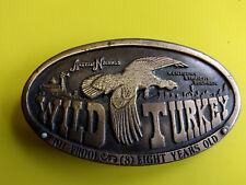 1974 Bergamot Wild Turkey Austin Nichols Kentucky Straight Bourbon Belt Buckle