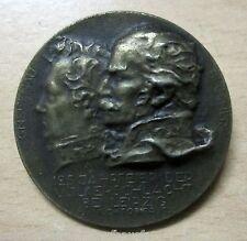 Bronze Plakete 125 Jahre Völkerschlacht bei Leipzig Oktober 1938