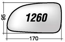 Hyundai Accent 2 dal 2001>2003 Vetro Sx Cromato per Specchietto Retrovisore