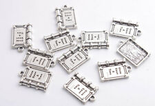 40PCS Antiqued Silver Once Upon A Times Book Charms