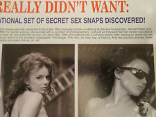 Ginger Spice. Gerry Halliwell. Early modelling pics. Two page magazine article.