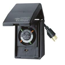 Outdoor Timer 24-Hour Control Setting Plug-In 15 Amp Holiday Lighting Decoration