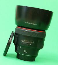 Canon EF 85mm F1.2 L MKII AF Portrait lens with Front & Rear Lens Caps & Hood