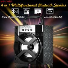 Portable Wireless Bluetooth Stereo Subwoofer Speaker FM USB AUX TF Rechargeable