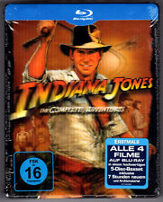 INDIANA JONES 5-DISC BLU-RAY STEELBOOK NEU & OVP SEALED MEDIA MARKT LENTICULAR