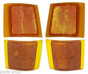 New 4-piece Corner Light Set / FOR 1994-99 CHEVROLET TRUCK SUBURBAN & TAHOE