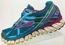 Brooks Adrenaline GTS 15 Running Shoes Blue Multicolored Training Womens 9 B