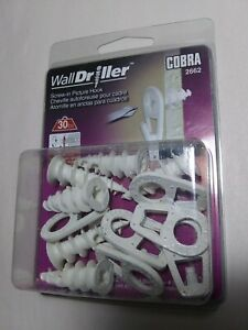 New seal ! COBRA 2662 Wall Driller Screw-in Picture Hook, 30 lb Weight Capacity