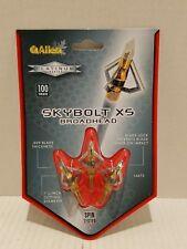 2-Allen Skybolt XS3 Blade Broadhead 14675-100 Grain Archery Chisel Tip-3 in Pack