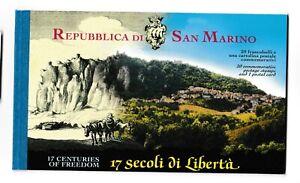 s35959 SAN MARINO 2000 MNH** Nuovi** 17° secolo San Marino libretto booklet