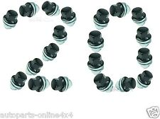 LAND ROVER DISCOVERY 3 & 4 ALLOY WHEEL NUT BLACK CAPPED (20) - RRD500290B