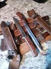 Czechoslovakian Vz bayonet and leather scabbard