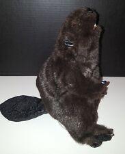 Folkmanis Beaver Hand Puppet Brown Stuffed Animal 3yrs+ NEW