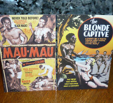 """*<* SALE! 2 EXCITING NEW """"MAU-MAU"""" & """"THE BLONDE CAPTIVE"""" POSTCARDS LOW SHIPPING"""