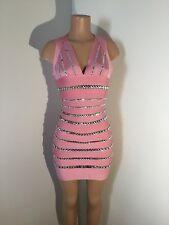Bandage dresses woman's  sexy party new year crystals evening Christmas Club L