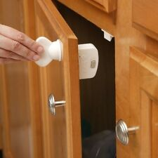Kitchen Cabinets Locks Protect Children from Knives Blades New, 1 Key and 8