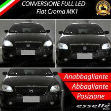 KIT FARI FULL LED FIAT CROMA MK1 ANABBAGLIANTI ABBAGLIANTI LUCI POSIZIONE 6000K