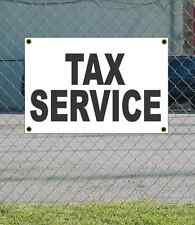 2x3 TAX SERVICE Black & White Banner Sign NEW Discount Size & Price FREE SHIP