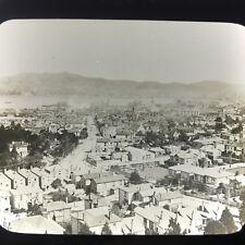 New Zealand City Of Wellington View Antique Magic Lantern Glass Slide Photo