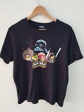 Star Wars | Angry Birds | Mens T Shirt | L | Black Gaming Clothing | A05