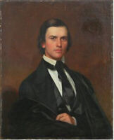 "oil painting "" Augustus Handy (1819-1891), merchant of Massillon, Ohio"""