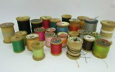 23 Vintage Wood Spools, Coats & Clark and Others