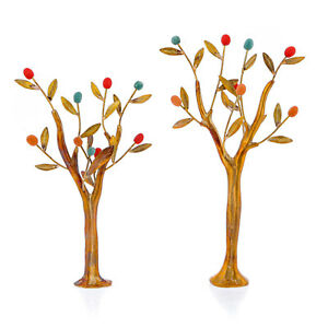 Olive Trees Set of 2 - Handmade Brass & Ceramic Sculptures - Modern Art Decor