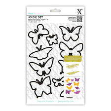 10 pieza A5 matriz de hoja Set Mariposas Butterfly muere Uso xcut Sizzix Big Shot