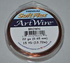 Soft Flex BROWN Colored Copper 22G GA Gauge Round Jewelry Craft Wire 15 Yd