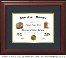 Brew Master Diploma - Personalized with your Name/Date- Best on eBay. BEER!!!