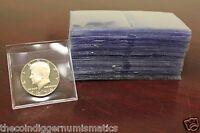 100 Saf T Flips Non PVC Plastic 2x2 Coin Holders Flips Archival Double Pocket
