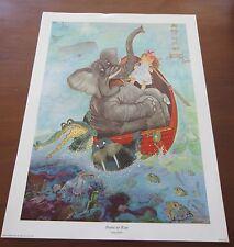 Genuine 1972 GEORGE BUCKETT PRESERVE OUR WATER Poster  ex museum print children