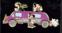 Disney DCA Superstar Limo Mickey Mouse Minnie Mouse Goofy Pin