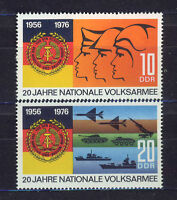 ALEMANIA/RDA EAST GERMANY 1976 MNH SC.1712/13 National people´s army