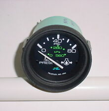 SEA RAY~SEARAY~BOAT~80 PSI OIL GAUGE~GAGE~PART # 54374 TELEFLEX~NEW OLD STOCK
