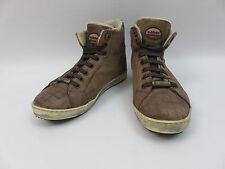 Baldinini Schuhe High Top Sneakers Chucks Braun Leder Gr.36 Fellfutter Schick