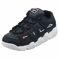 Fila Uproot Mens Navy White Synthetic & Textile Fashion Trainers
