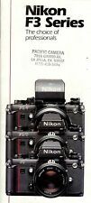 "Prospekt Nikon F3 Series ""The choice of professionals"" English"