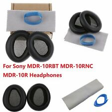 Ear Pads Cushions Cover for Sony MDR-10RBT MDR-10RNC MDR-10R Headphones Leather