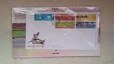 2002 primer día de emisión. Manchester. XVII Juegos de Commonwealth paquete de presentación.