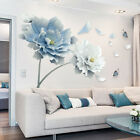 Flower Lotus Wall Stickers Butterfly Removable Art Home Decor Mural Living Room