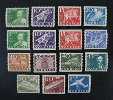 CKStamps: Sweden Stamps Collection Scott#248-262 Mint H OG