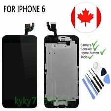 Touch Screen Digitizer Replacement For Black iPhone 6 4.7''+Camera&Home Button