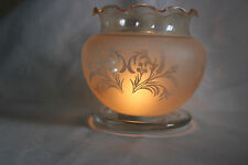 Vintage Art Noveau French Floral Tinted  Glass Lamp Shade.