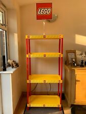 Genuine Lego Shelves Shop Storage Nysco 4 Tier Yellow & Red With Sign