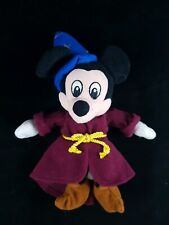 Micky Mouse Wizard Sorcerer Plush Toy Disney Store Fantasia 10inch