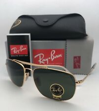 New RAY-BAN Sunglasses THE COLONEL RB 3560 001 61-17 Gold Aviator w/ G15 Green
